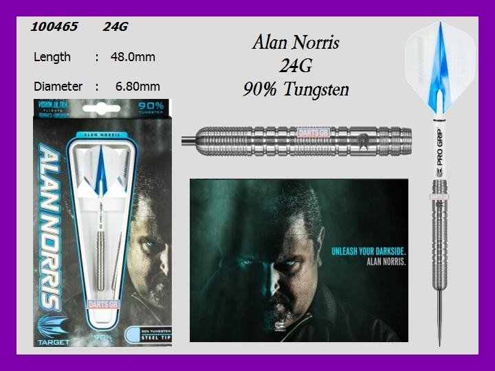 PRE-ORDER Target Alan Norris 24G 90% Tungsten Steel Tip Darts