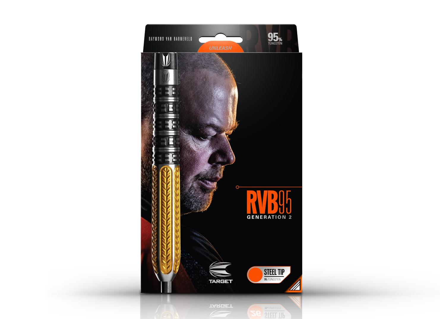 RVB 95 Generation 2  25g 95% Tungsten Steeltip Darts